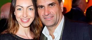 Tristan Duval etson épouse, SolèneMauget, enmars2018, au temps de l'idylle.  ©Antoine Flament/Starface