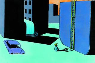 Planche extraite de « Juste à temps »de Tomi Ungerer
