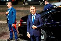 Le boss.  L'ancien Premier ministre Bidzina Ivanichvili arrive au siège du Rêve géorgien, son parti, au soir de la présidentielle, le 28octobre 2018. Sa candidate, la Franco-Géorgienne Salomé Zourabichvili, ex-ambassadrice de France en Géorgie, sera élue  à la tête du pays.  ©Alexander Imedashvily