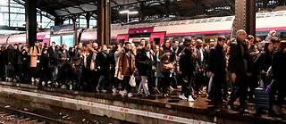 Le taux de grévistes à la SNCF est tombé à 11,2% lundi matin, a annoncé la direction (photo d'illustration).