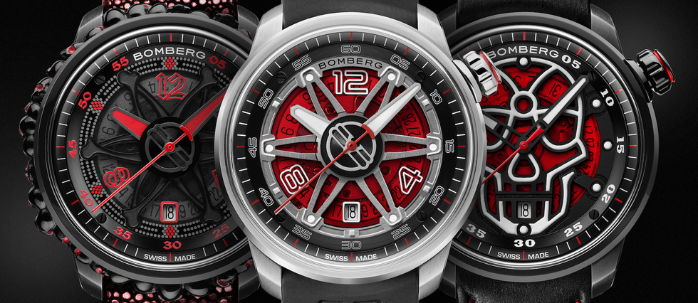 "<p>Bomberg BB-01 Automatic << Red Touch >>. <span style=""background:white"">1 890 EUR, 1 365 EUR  et 1 580 EUR.</span></p>"