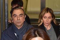 Carlos et Carole Ghosn le 3 avril 2019.