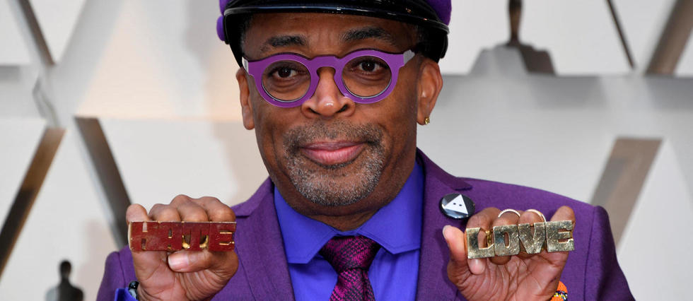 <p>Spike Lee, le 24 fevrier 2019, a la 91<sup>e</sup> ceremonie des Oscars, a Los Angeles.</p>