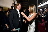 Brad Pitt et Jennifer Aniston aux Screen Actors Guild Awards le 19 janvier.