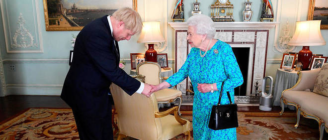 La reine Elizabeth II et Boris Johnson a Buckingham Palace le 24 juillet (photo d'illustration).