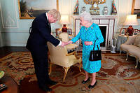 La reine Elizabeth II et Boris Johnson à Buckingham Palace le 24 juillet (photo d'illustration).