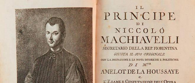 Page de titre et portrait de Machiavel dans une edition italienne du << Prince >> de Nicolas Machiavel, avec une preface de Nicolas Amelot de La Houssaye, 1769.