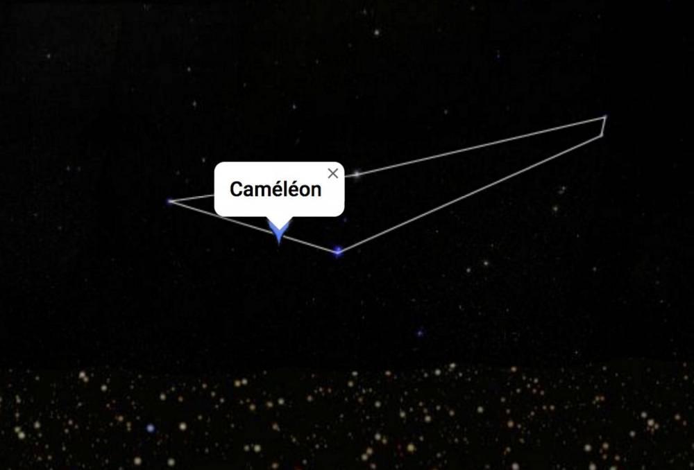 Cammeleon Constellation © Google Sky Screenshot'écran Google Sky