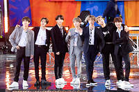 Le groupe de K-pop BTS, lors de son passage dans l'émission « Good Morning America » en mai 2019.