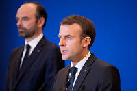 Emmanuel Macron et Edouard Philippe. Photo d'illustration