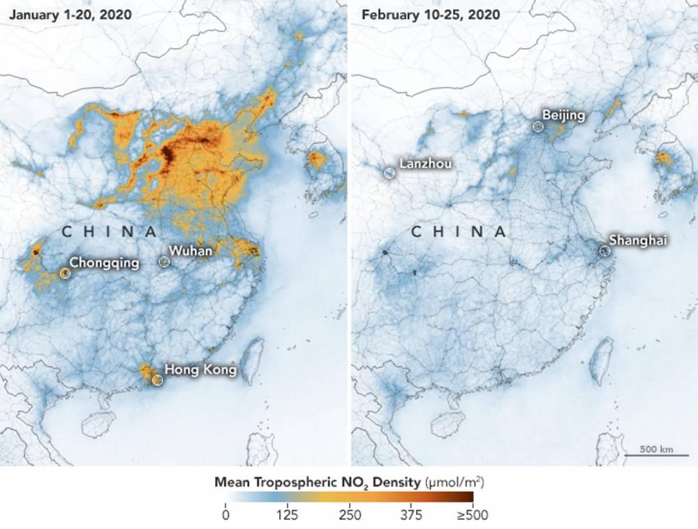 Chine, air, pollution ©  NASA