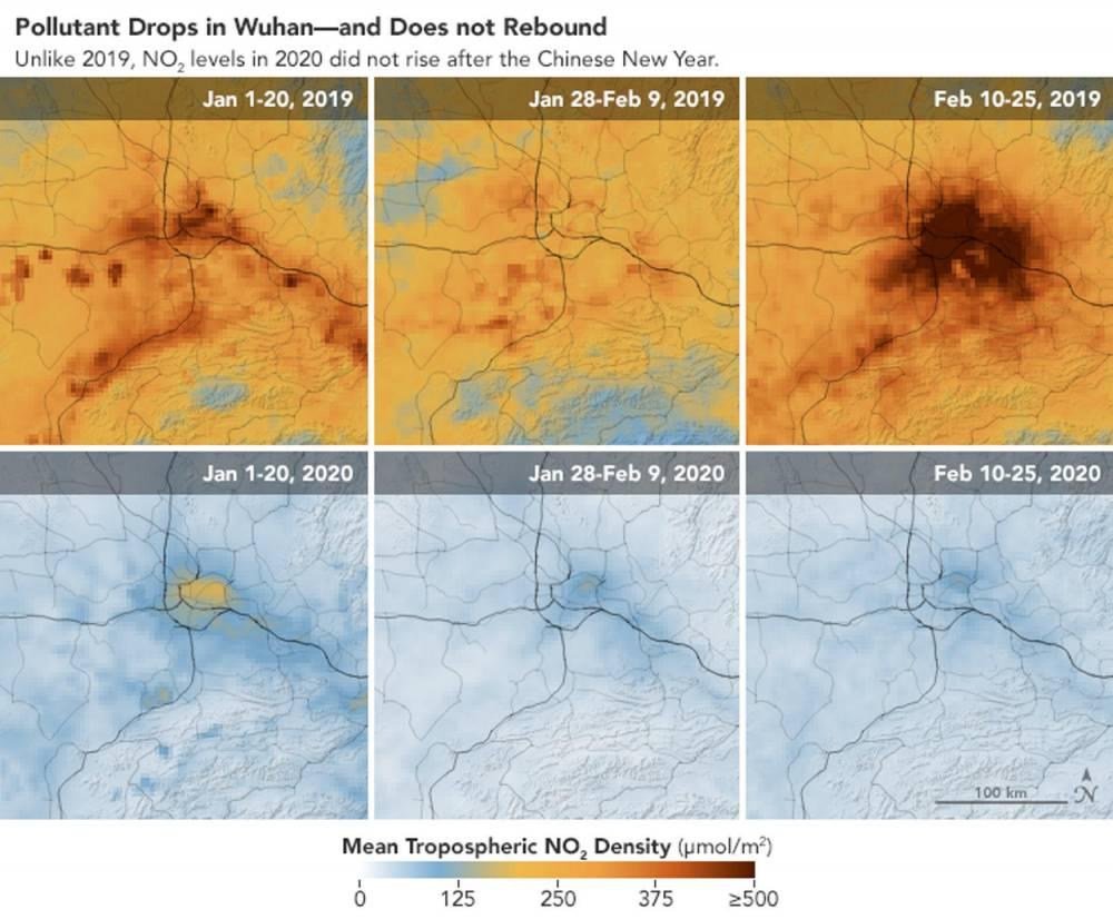 Chine, pollution, Nasa ©  NASA