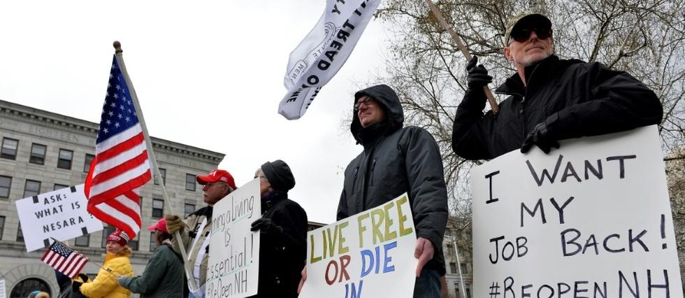 Encouragées par Trump, les manifestations anti-confinement se ...