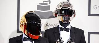 Les Daft Punk, au Grammy Awards, en 2014.