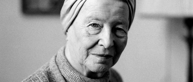 Simone de Beauvoir en 1983 a Paris.