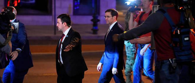 Le ministre americain de la Defense Mark Esper a annonce s'opposer au deploiement de l'armee sur le territoire des Etats-Unis, theatre de manifestations antiracistes apres la mort de George Floyd.