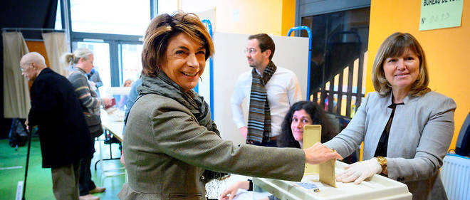 Martine Vassal est arrivee en deuxieme position au premier tour des municipales a Marseille.