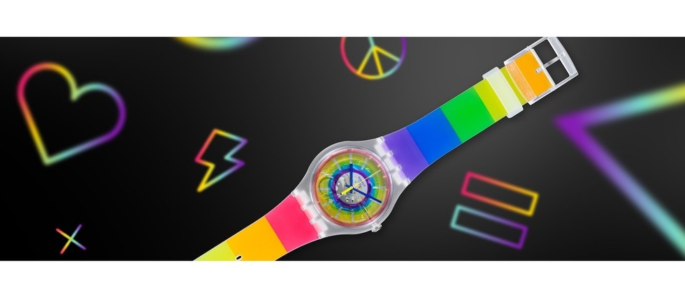 "<p style=""text-align:justify"">Montre Swatch Opensummer. 75 EUR."