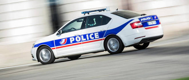 Une voiture de police, a Nantes, en fevrier. (Photo d'illustration)