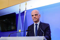 Le ministre de l'Education nationale, Jean-Michel Blanquer, en mars 2020.