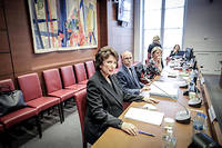 Roselyne Bachelot, auditionnee par la commission d'enquete de l'Assemblee nationale.