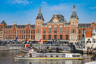 La gare d'Amsterdam, la capitale des Pays-Bas (photo d'illustration).