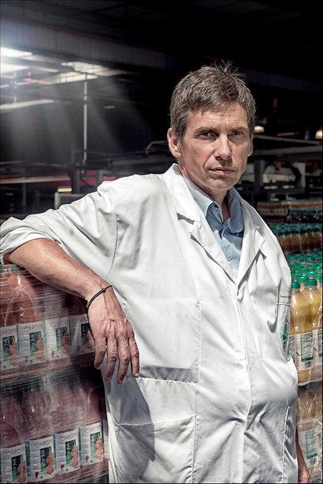 Emmanuel Vasseneix. President du groupe Laiterie de Saint-Denis-de-l'Hotel, leader francais de l'elaboration et du conditionnement de jus de fruits, de lait de consommation et de salades.