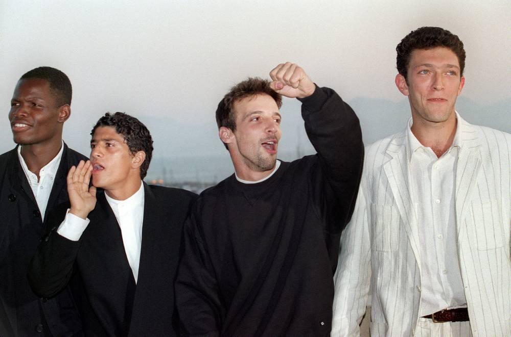 Hubert Koundé, Saïd Taghmaoui, Vincent Cassel, Mathieu Kassovitz, «La Haine», Festival deCannes, ©  GERARD FOUET / AFP