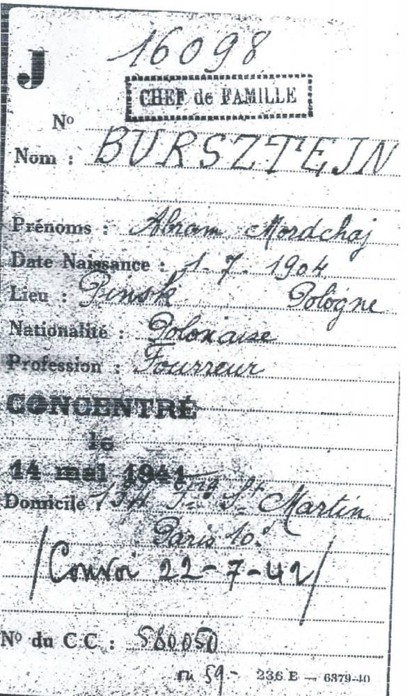 déportation, 1942, juif,  ©  Collection particulière