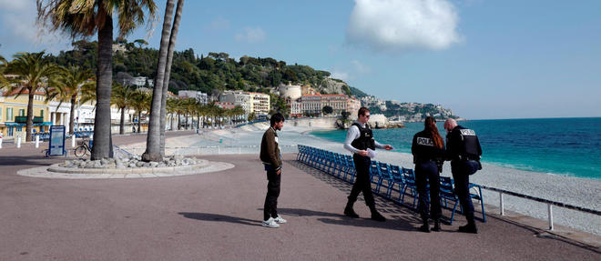 La Promenade des Anglais à Nice en mars 2020 (photo d'illustration).