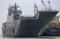 Le << HMAS Canberra >>, un navire de la marine royale australienne, a porte assistance aux trois infortunes (photo d'illustration).
