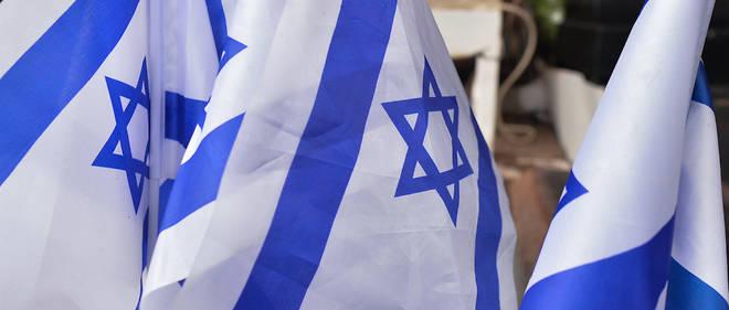 Des drapeaux israeliens a Tel-Aviv, en fevrier 2020. (Photo d'illustration)