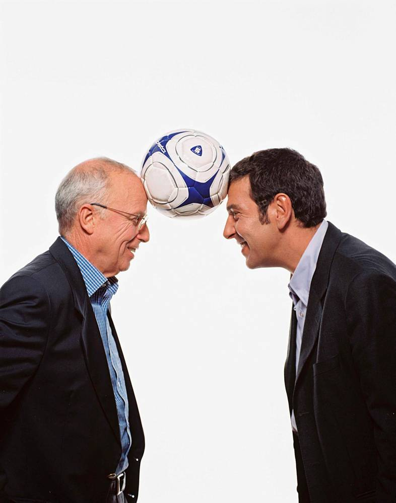 Thierry Gilardi, Thierry Roland, TF1, football, ©  V.S.D./SIPA / SIPA