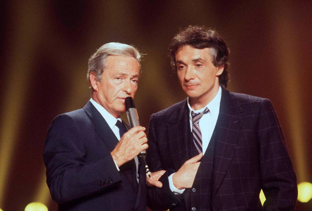 Guy Lux, Michel Sardou, télévision, variétés, ©  BENAROCH/SIPA / SIPA / BENAROCH/SIPA