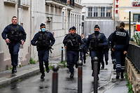La police a ete massivement deployee et le quartier boucle (illustration).