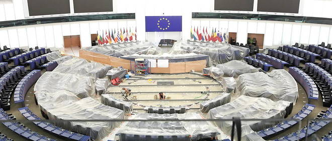 L'hemicycle du Parlement europeen, a Strasbourg (illustration).