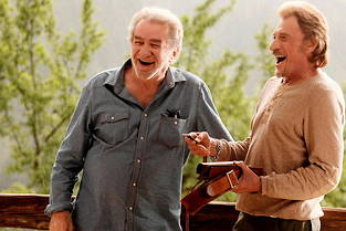 Johnny Hallyday et Eddy Mitchell dans le film de Claude Lelouch « Salaud, on t'aime ! ».