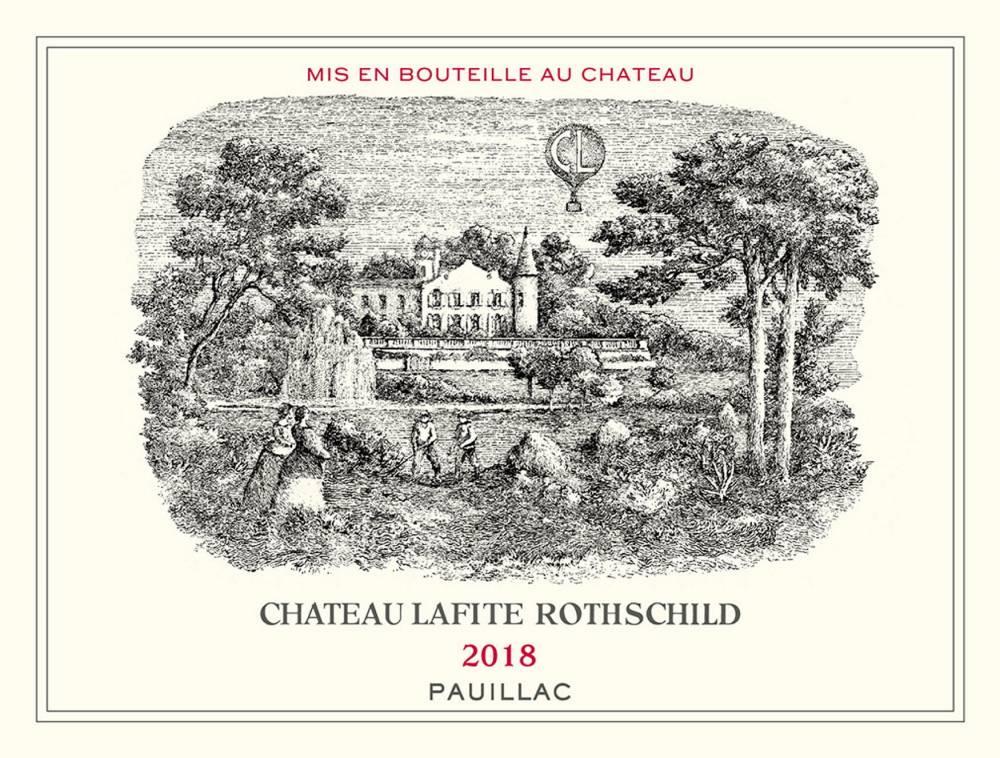 Lafite, étiquette, vin ©  DR