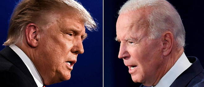 Donald Trump et son rival democrate Joe Biden se livreront a un duel televise a distance dans la soiree du jeudi 15 octobre. (Photo d'illustration)