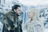 Kit Harington (Jon Snow) et Emilia Clarke (Daenerys  Targaryen) dans  Game of Thrones .
