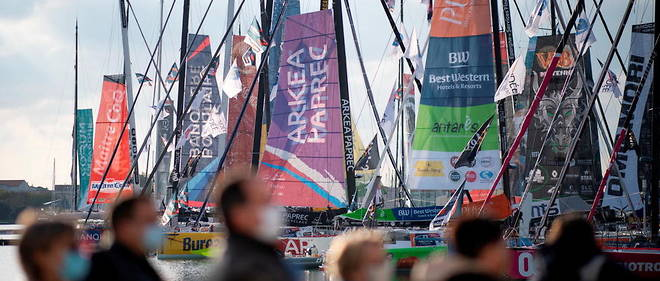 Une soiree privee sans gestes barrieres a l'occasion de l'ouverture du village du Vendee Globe a fait polemique (photo d'illustration).
