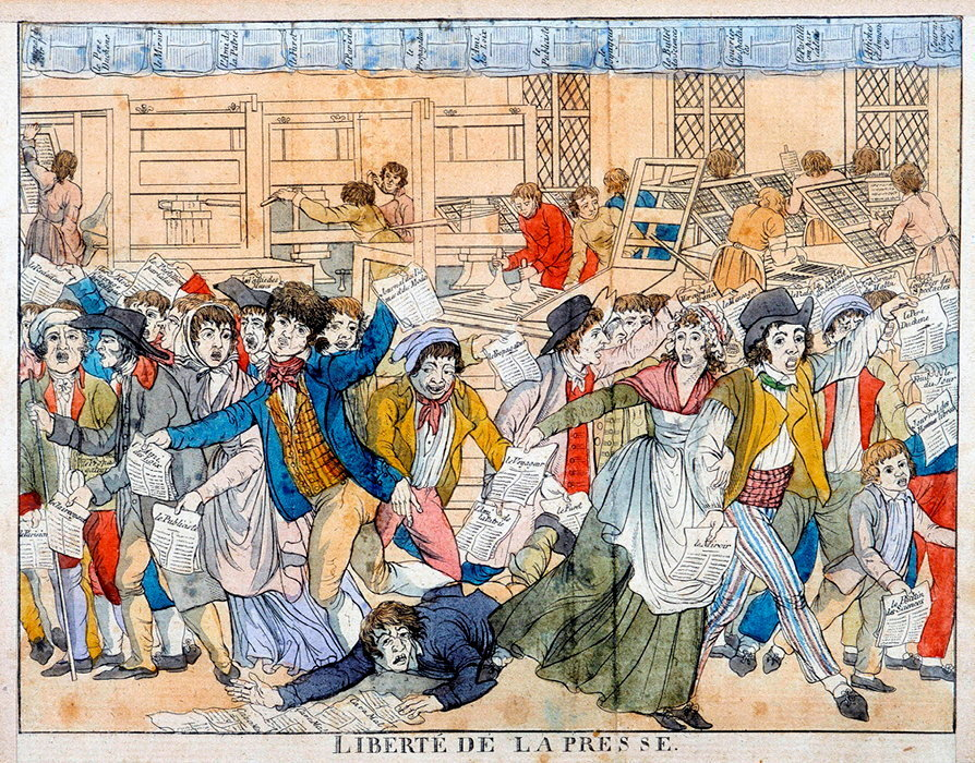 Liberte de la presse. Le 24 aout 1789, le debat s'ouvre a l'Assemblee constituante.