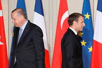 Recep Tayyip Erdogan et Emmanuel Macron en janvier 2018 (Photo d'illustration).