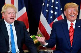 Donald Trump et Boris Johnson à New York en septembre 2019.