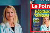 Dr Julie Chas, du service des maladies infectieuses et tropicales de l'hopital Tenon (Paris) est en couverture du Point.