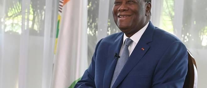Le president Alassane Ouattara, 78 ans, a ete reelu pour un troisieme mandat controverse sur le score-fleuve de 94,27 % des voix au premier tour, l'opposition ayant boycotte le scrutin (illustration).