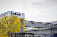 Un entrepôt Amazon à Saran, en France.