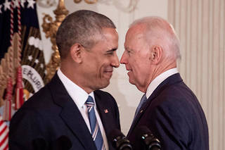 Barack Obama et Joe Biden en 2017.