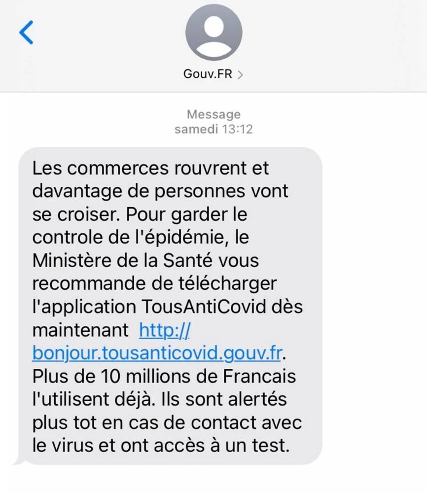 SMS, TousAntiCovid, Covid-19 ©  LePoint.fr