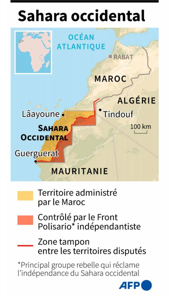 -Sahara-occidental-Israël-Maroc-Polisario- ©  AFP